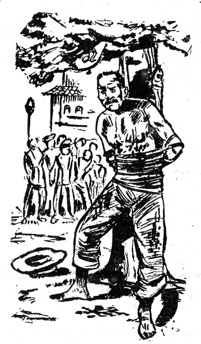 Ilustração do assassinato do posseiro Francisco Bernardi. Autoria desconhecida