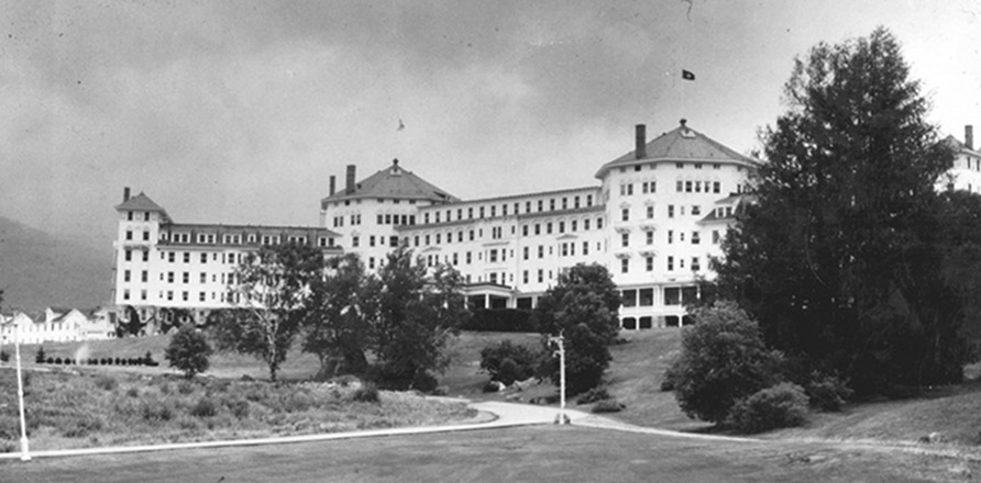 <strong> O Hotel Mount Washington</strong> , em Bretton Woods, New Hampshire, local da Confer&ecirc;ncia de 1944