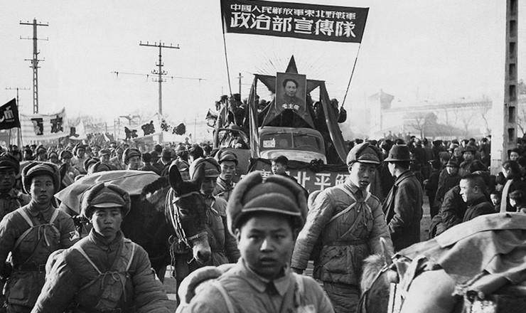 <strong> Comemora&ccedil;&atilde;o da vit&oacute;ria</strong> da revolu&ccedil;&atilde;o em Pequim, em 1949