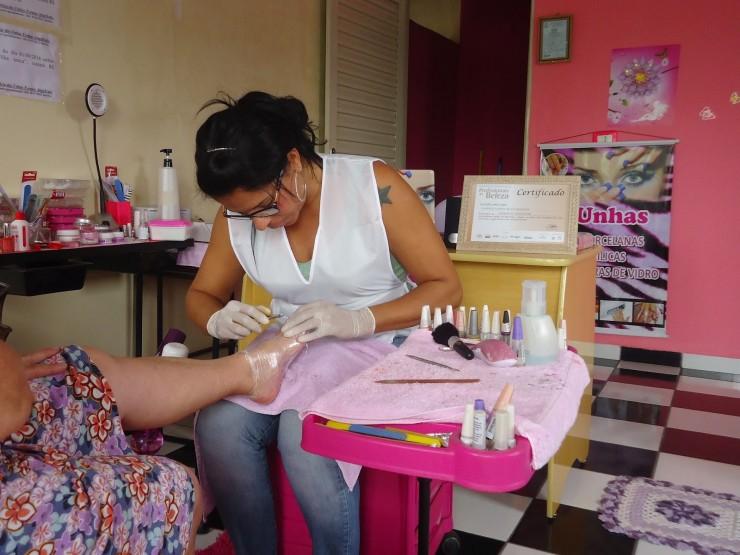<strong> Sandra Santos da Silva Rezende, </strong> de Alto Araguaia (MT), foi benefici&aacute;ria do Bolsa Fam&iacute;lia durante nove anos, fez o curso do Pronatec e virou microempreendedora