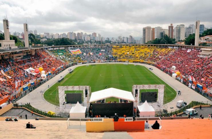 <strong> Estádio do Pacaembu, em São Paulo:</strong> 30 miltrabalhadores para a2ª Conclat