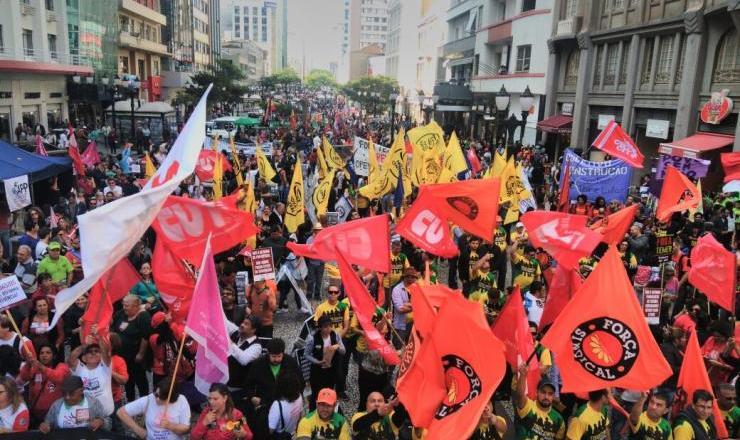 <strong> Centrais sindicais nas ruas: </strong> fortalecimento nos anos posteriores à lei
