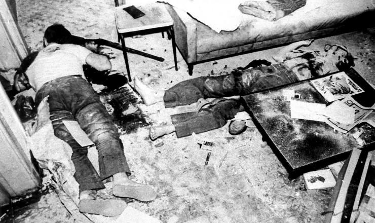 <strong> Corpos dos dirigentes </strong> do PCdoB assassinados no aparelho da Lapa