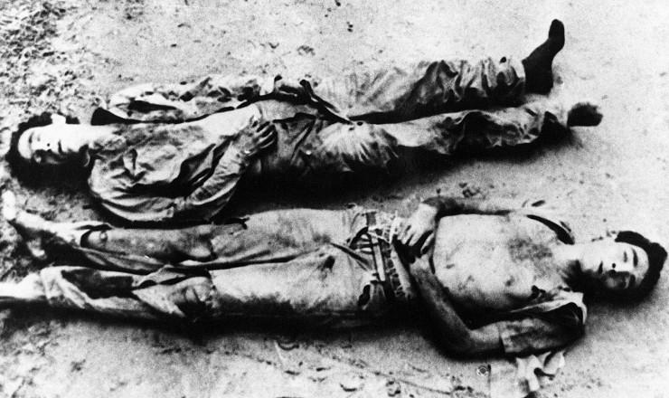 <strong> Carlos Lamarca</strong> (ao alto) e Jos&eacute; Campos Barreto, o Zequinha, assassinados no sert&atilde;o baiano