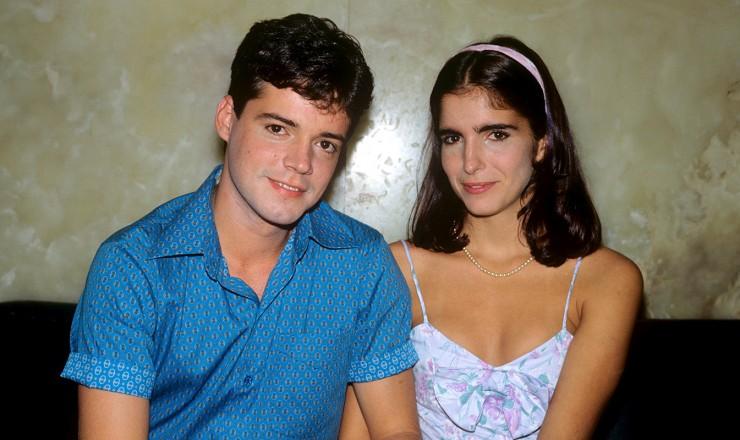 <strong> Felipe e Lurdinha, </strong> protagonistas de &quot;Anos Dourados&quot; vividos pelo atores Felipe Camargo e Malu Mader  <br />