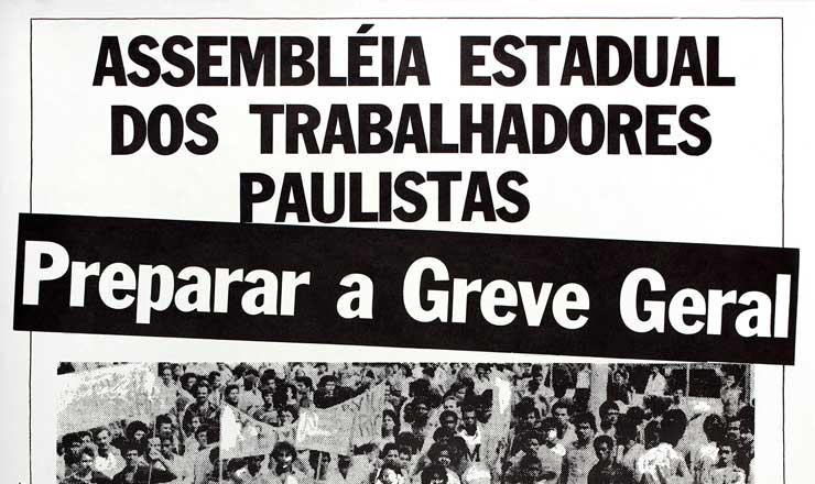 <strong> Cartaz de prepara&ccedil;&atilde;o da greve</strong> geral assinado pela Comiss&atilde;o Pr&oacute;-CUT