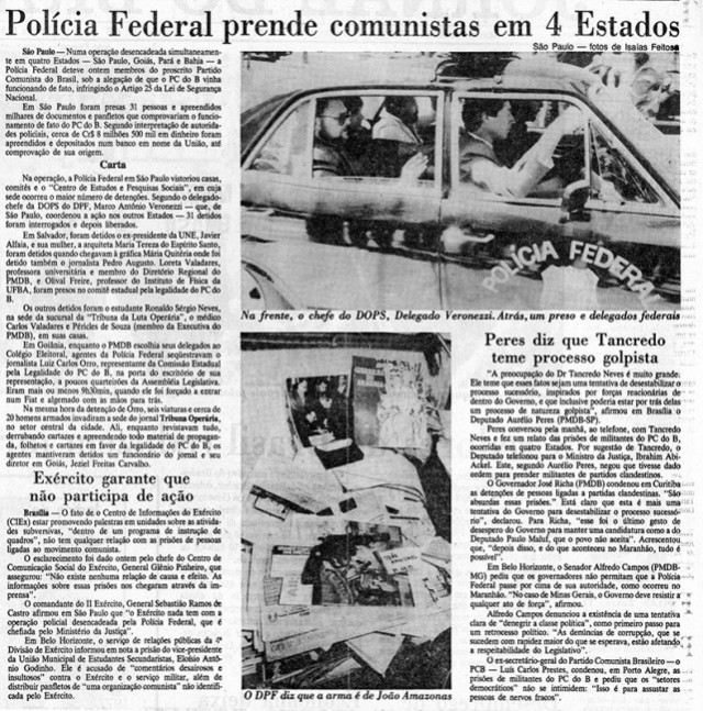 Polícia Federal realiza operação em quatro Estados, prende membros do PCdoB e faz apreensão de materiais