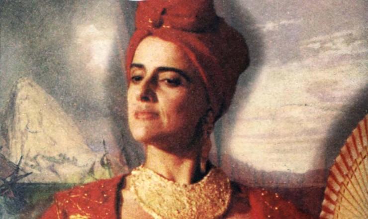 <strong> Cartaz de divulga&ccedil;&atilde;o</strong> do filme &quot;Carlota Joaquina, Princesa do Brasil&quot;, estrelado por Marieta Severo