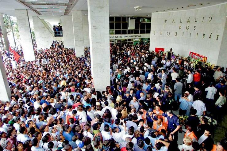 <strong> Vel&oacute;rio do prefeito Toninho do PT </strong> no Pa&ccedil;o Municipal de Campinas reuniu cerca de 100 mil pessoas