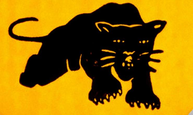 <strong> Button dos Panteras Negras,</strong> ativistas do movimento negro norte-americano que tamb&eacute;m combatia a guerra do Vietn&atilde;