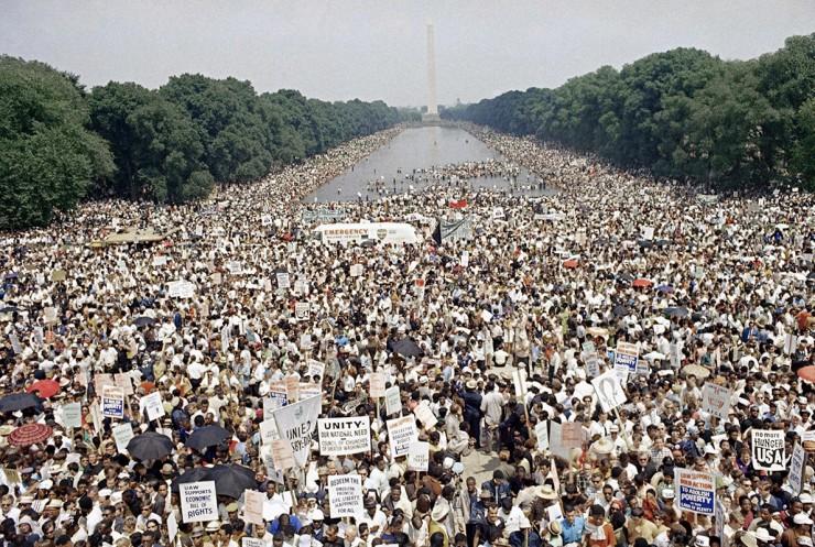 <strong> Manifesta&ccedil;&atilde;o&nbsp;em Washington,</strong> em junho de 1968, pelos direitos civis e contra a guerra do Vietn&atilde;