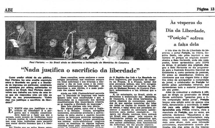 """<strong> O ato público e as repercussões</strong> do lançamento do manifesto em página do """"Boletim ABI"""""""