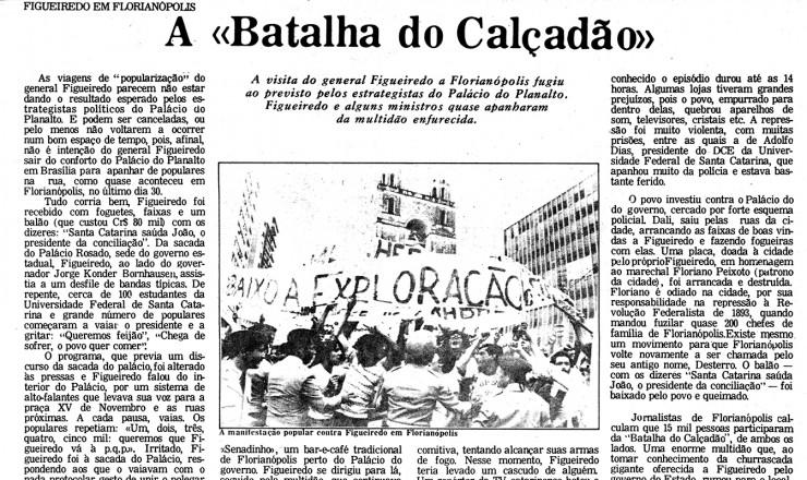 <strong> A &quot;Batalha do Calçadão&quot; </strong> relatada pelo jornal &quot;Movimento&quot; em dezembro de 1979