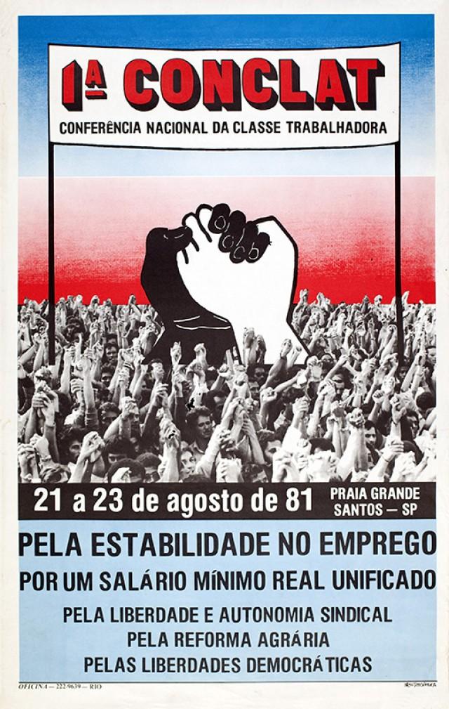 Cartaz de divulgação da 1ª Conferência Nacional das Classes Trabalhadores (Conclat)