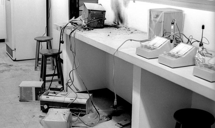 <strong> Laboratório da UnB</strong> depredado na invasão pelas forças policiais