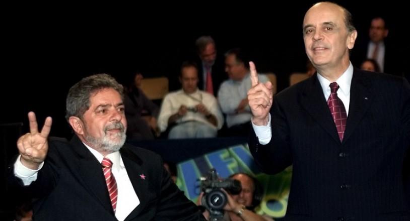 <strong> Lula e Serra no último debate</strong> entre os candidatos à Presidência da República realizado pela Rede Globo