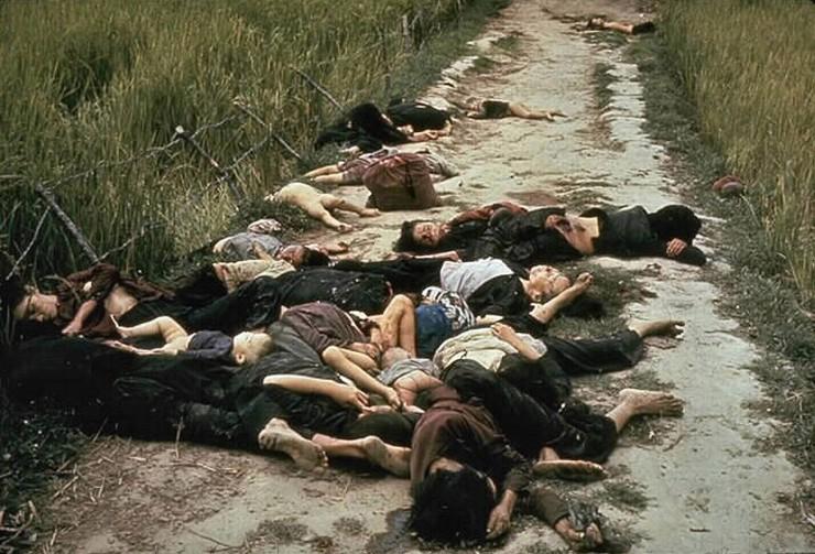 <strong> Mortos no massacre de My Lai,</strong> no qual cerca de 500 alde&otilde;es vietnamitas foram assassinados por soldados dos EUA
