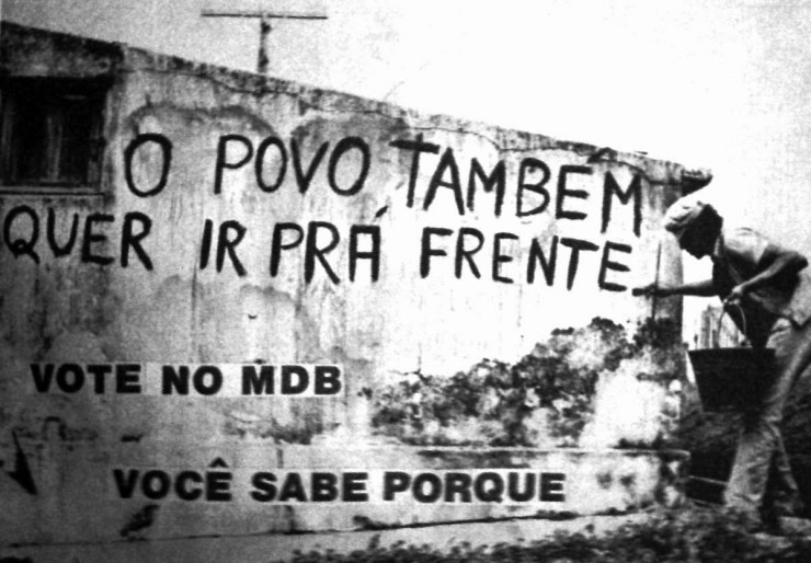 <strong> O lema da campanha</strong> do MDB em 1974 denunciava, subliminarmente, os abusos do regime  &nbsp;