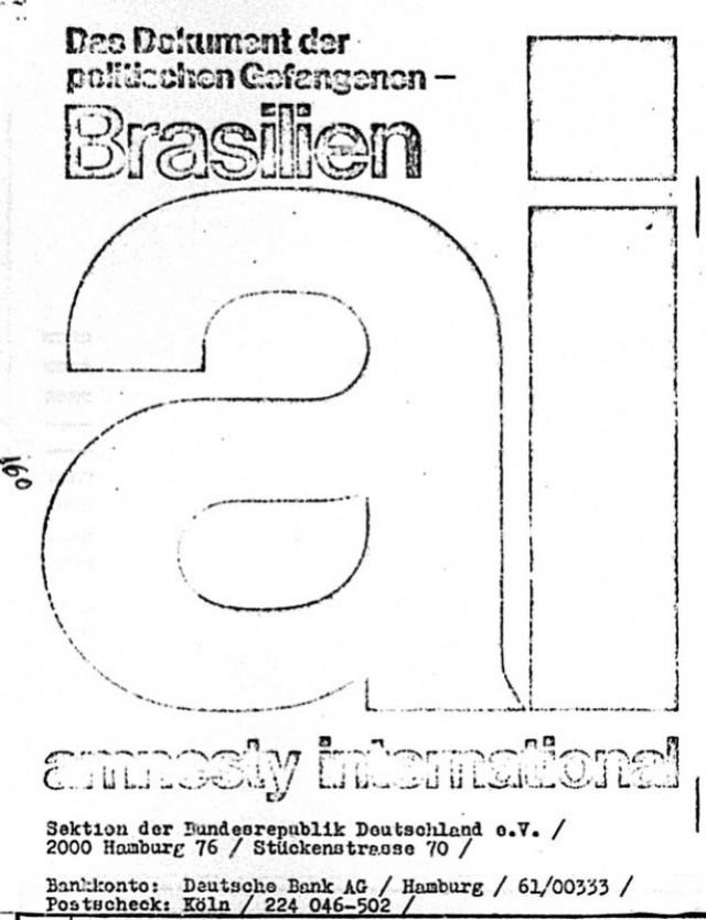 Relatório da Anistia Internacional sobre o Brasil divulgado na Alemanha