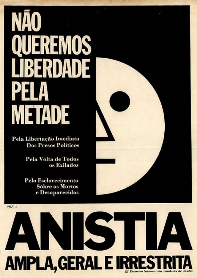 Cartaz de movimentos pró-anistia ampla, geral e irrestrita