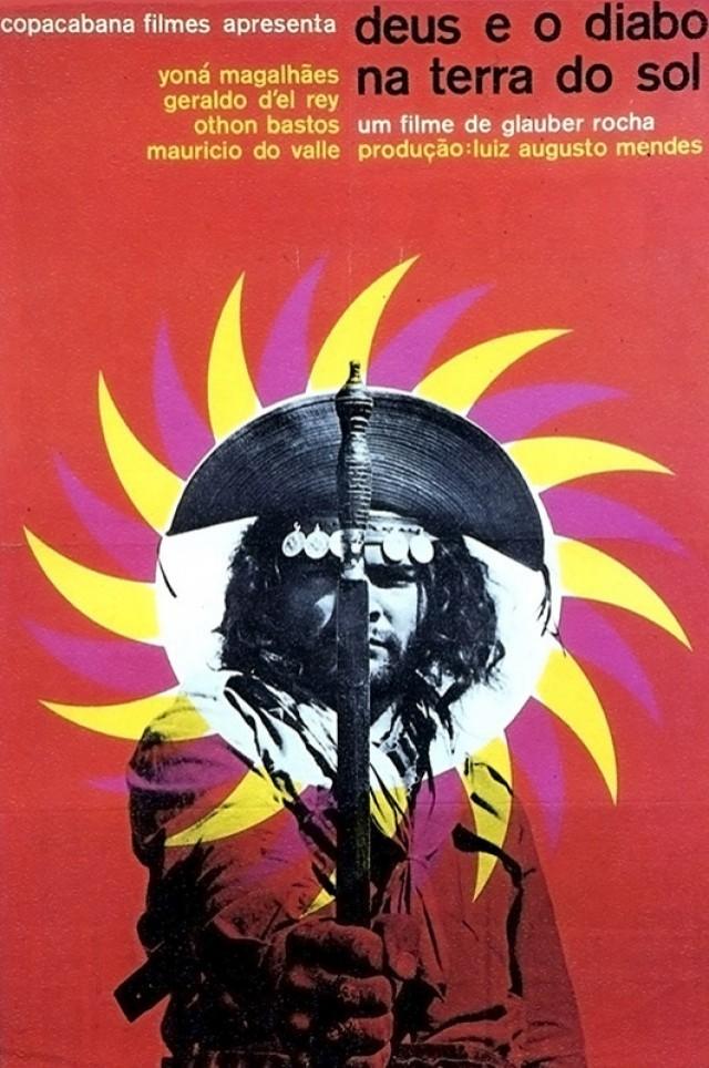 Cartaz de Rogério Duarte para o filme de Glauber Rocha