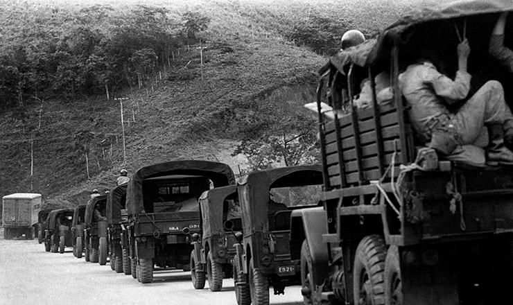 <strong> Deslocamento de tropas </strong> militares&nbsp;durante o golpe militar de 1&deg; de abril de 1964