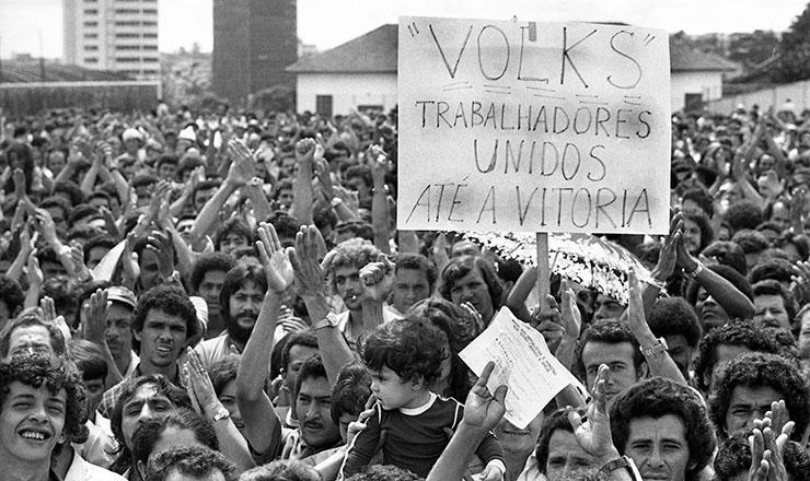 <strong> Greve 1979</strong> &ndash; Oper&aacute;rios da Volks aderem &agrave; greve em S&atilde;o Bernardo do Campo