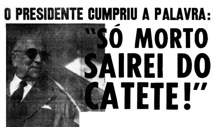 <strong> Capa do jornal &quot;&Uacute;ltima Hora&quot; </strong> noticia o suic&iacute;dio de Vargas na edi&ccedil;&atilde;o de 24 de agosto de 1954