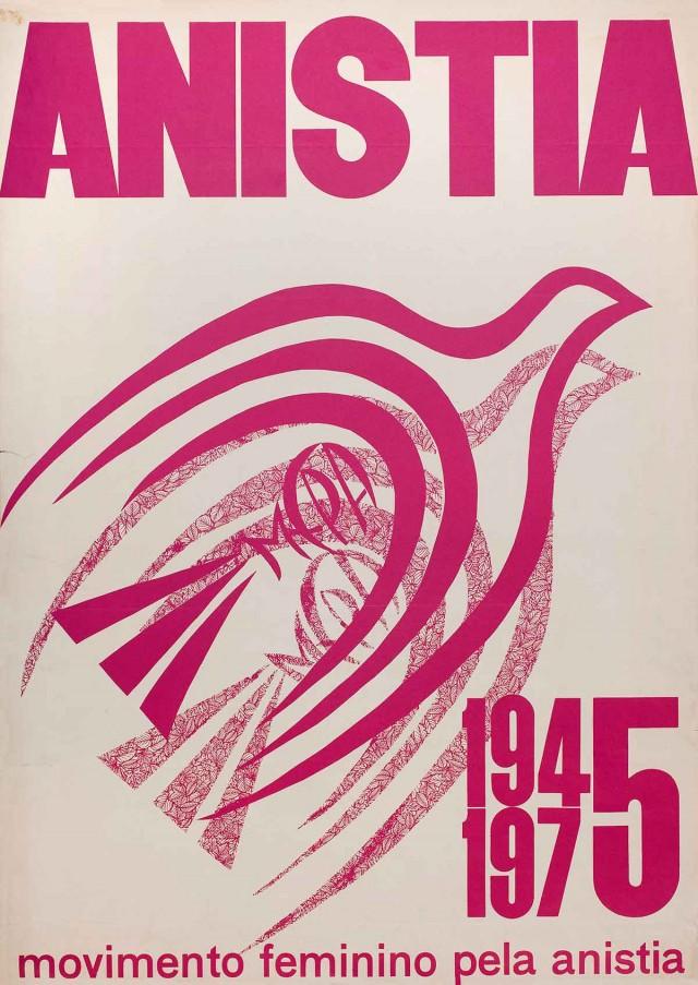 Cartaz do Movimento Feminino pela Anistia, de 1975