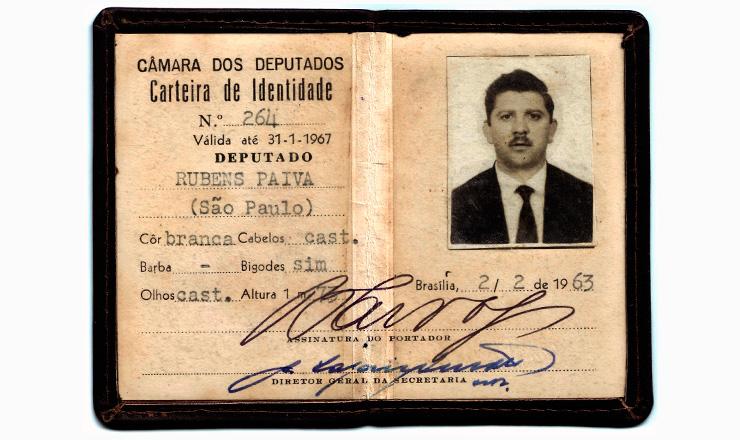 <strong> Carteira de identidade</strong> parlamentar do deputado Rubens Paiva&nbsp;