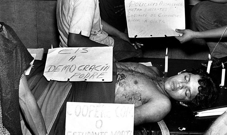 <strong> Vel&oacute;rio de Edson Lu&iacute;s </strong> na Assembleia Legislativa do Rio de Janeiro, em 28 de mar&ccedil;o de 1968&nbsp;&nbsp;