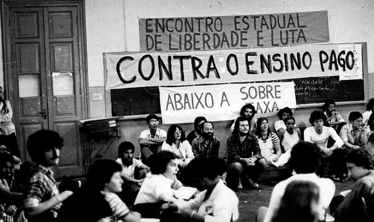 <strong> Encontro da Libelu, </strong> organiza&ccedil;&atilde;o do movimento estudantil que dirigiu o DCE Livre da USP nos anos 1970