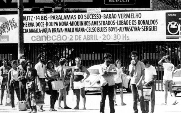 Um dos espaços cariocas para apresentações de bandas emergentes foi o Canecão. Em festival organizado pela Rádio Fluminense, diversos grupos se apresentaram no mesmo dia, fato que ajudou a criar um ambiente de fraternidade entre os artistas, fortalecendo as afinidades políticas e estéticas entre os grupos.