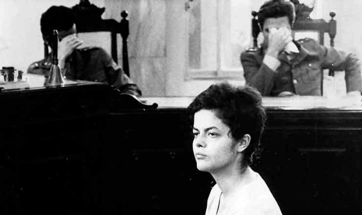 <strong> Dilma Rousseff depõe </strong> na 1ª Auditoria Militar, no Rio de Janeiro, em 17 de novembro de 1970