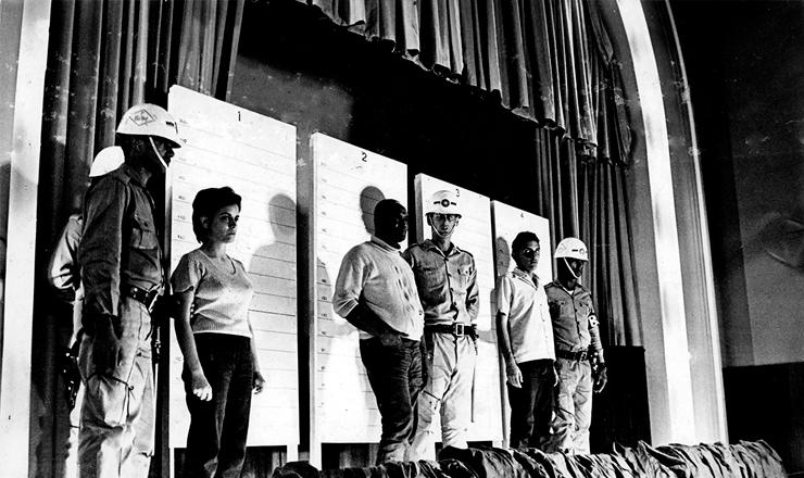 <strong> Martinha, Edmur P&eacute;ricles, </strong> o Ga&uacute;cho, e Gustavo, militantes da ALN presos no Rio Grande do Sul em 1970&nbsp;