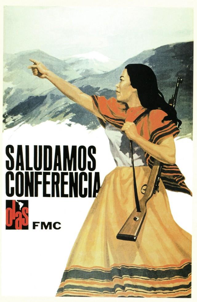 Cartaz cubano alusivo à conferência da Organização Latino-Americana de Solidariedade (Olas)