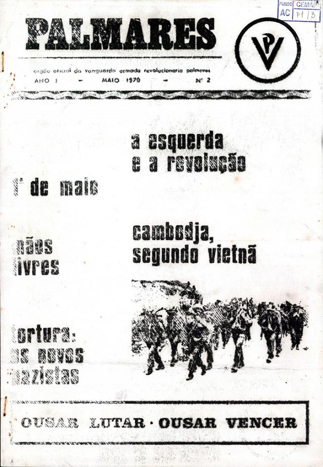 """""""Palmares"""", publicação da Vanguarda Armada Revolucionária Palmares (VAR-Palmares)"""