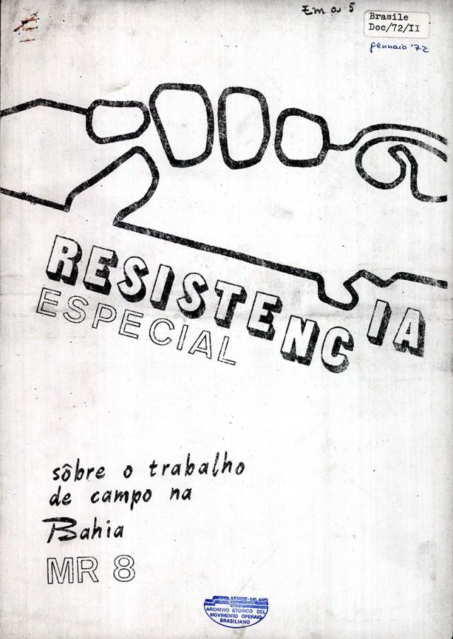 """""""Resistência"""", órgão do Movimento Revolucionário 8 de outubro (MR-8)"""