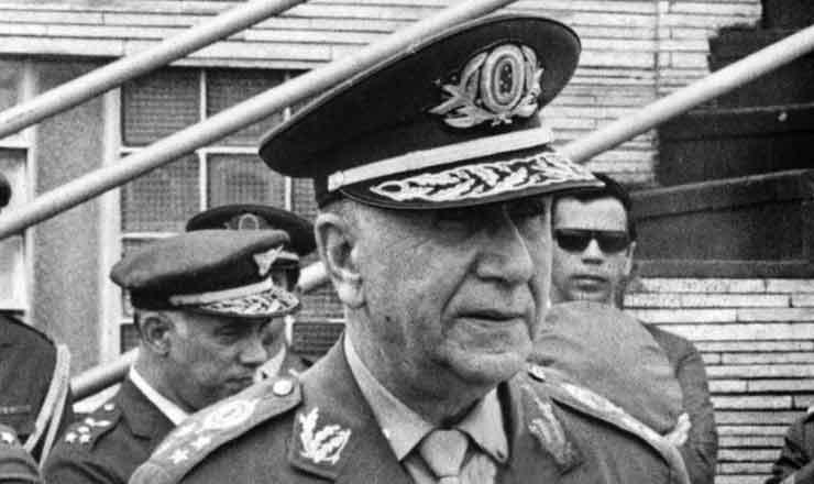 <strong> General Garrastazu M&eacute;dici,</strong> que assumiu a Presid&ecirc;ncia da Rep&uacute;blica por indica&ccedil;&atilde;o do Alto Comando das For&ccedil;as Armadas