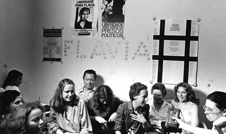 <strong> Entrevista de Flavia Schilling </strong> na sede do Comit&ecirc; Brasileiro pela Anistia, em S&atilde;o Paulo, em 17 de abril de 1980