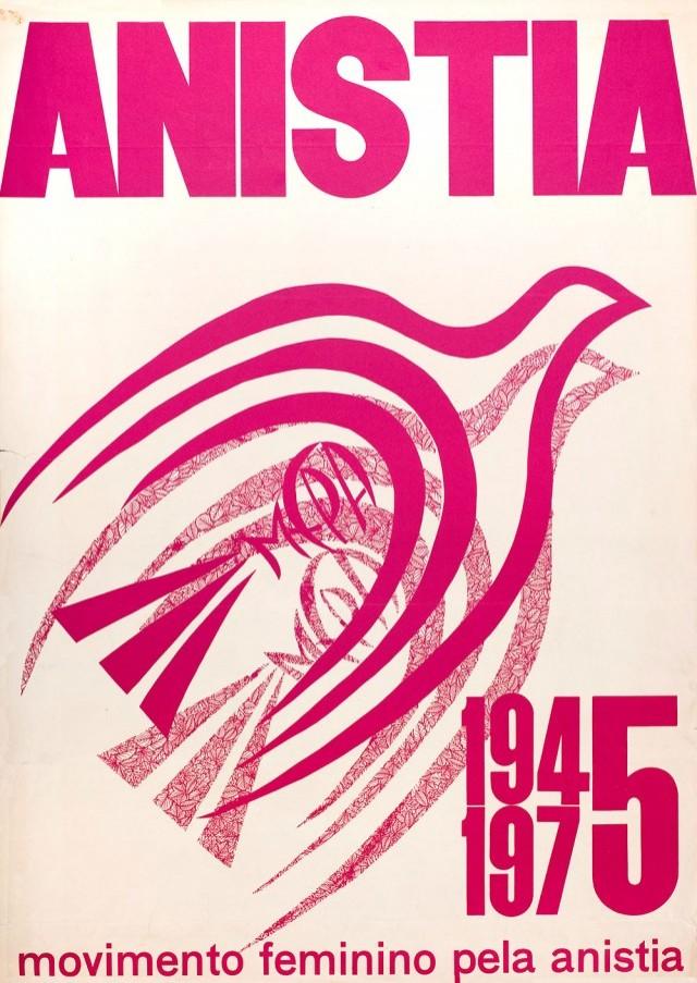 Cartaz do Movimento Feminino pela Anistia,de 1975