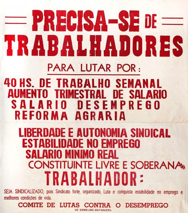 Os movimentos sindicais conclamam os trabalhadores à organização para a luta por direitos