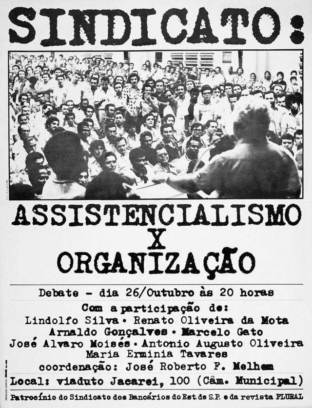 Cartaz divulga debate em São Paulo sobre reorganização sindical