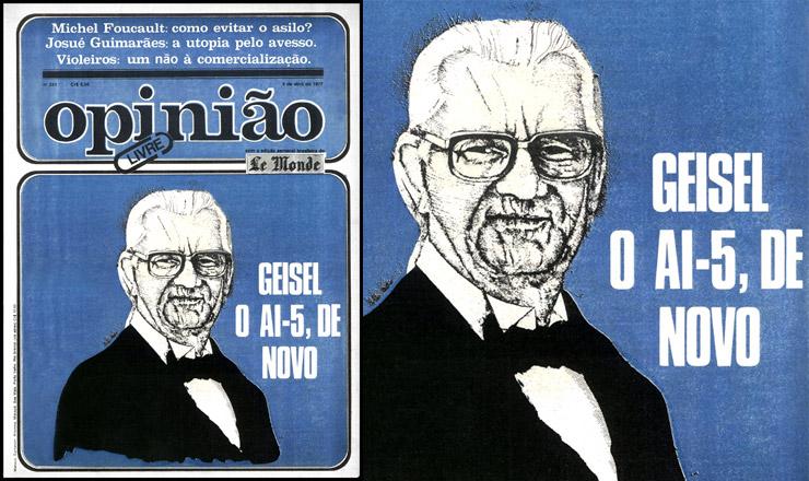 """<strong> A última edição</strong> de """"Opinião"""", datada de 8 de abril de 1977"""