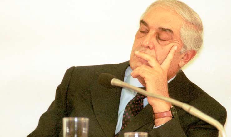 <strong> O juiz Nicolau dos Santos Neto, </strong> durante depoimento &agrave;&nbsp;CPI do Judici&aacute;rio que investigou o desvio de recursos da constru&ccedil;&atilde;o do F&oacute;rum Trabalhista de S&atilde;o Paulo