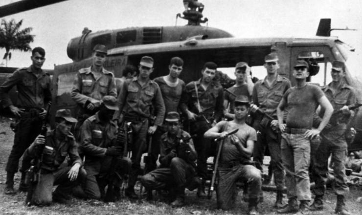 <strong> Soldados da ação repressiva </strong> das Forças Armadas na região do Araguaia