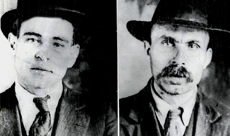 <strong> Nicola Sacco e Bartolomeo Vanzetti, </strong> oper&aacute;rios anarquistas executados em 1927
